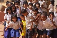 柬埔寨小女孩画象 免版税库存照片