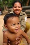 柬埔寨愉快的孩子 库存照片