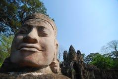 柬埔寨收割沙子雕塑siem石头 免版税图库摄影