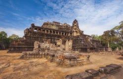 柬埔寨收割siem Baphuon是寺庙在吴哥城 免版税库存照片