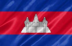 柬埔寨旗子 库存例证