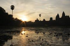 柬埔寨日出 免版税图库摄影