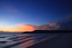 柬埔寨横向日落 库存照片
