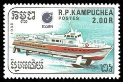 柬埔寨水翼艇 免版税库存照片