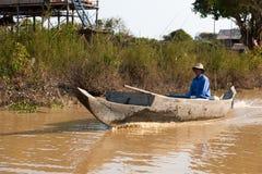 柬埔寨浮动的村庄 免版税库存照片