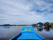 柬埔寨湖树汁tonle 免版税库存图片