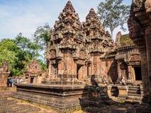 柬埔寨的古老砂岩寺庙 库存照片