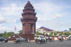 柬埔寨的战争和独立纪念品  免版税库存照片