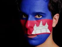 柬埔寨的旗子 免版税库存照片