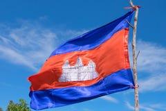 柬埔寨的旗子 库存图片