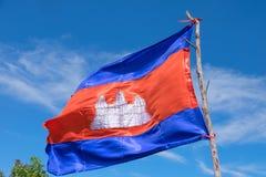 柬埔寨的旗子 免版税库存图片