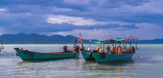 柬埔寨的美丽的Kampot河在亚洲东南部 免版税库存照片