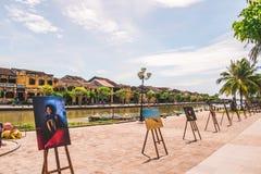 柬埔寨的美丽的Kampot河在亚洲东南部 库存图片