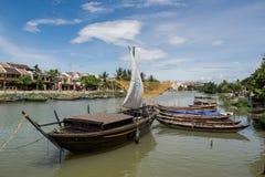 柬埔寨的美丽的Kampot河在亚洲东南部 库存照片