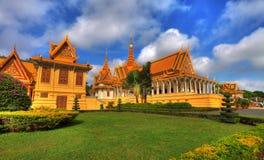 柬埔寨皇家hdr的宫殿 免版税图库摄影