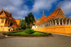 柬埔寨皇家hdr的宫殿 库存图片