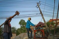 柬埔寨移居泰国工作者 免版税库存照片