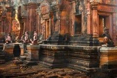 柬埔寨著名地标 世界最大的宗教纪念碑, Prasat吴哥Nokor Wat寺庙复合体,暹粒 古老 免版税图库摄影