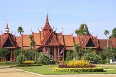 柬埔寨,金边的国家博物馆 库存照片