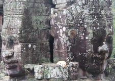 柬埔寨 吴哥城市 在riep siem寺庙附近的bayon柬埔寨 暹粒省 暹粒市 免版税库存照片