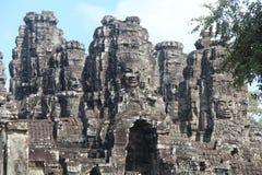柬埔寨 吴哥城市 在riep siem寺庙附近的bayon柬埔寨 暹粒省 暹粒市 免版税库存图片