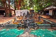 柬埔寨吴哥窟的模型 库存照片