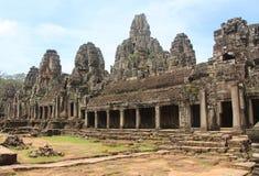 柬埔寨 在riep siem寺庙附近的bayon柬埔寨 暹粒市 暹粒省 库存照片