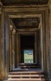 柬埔寨破坏了寺庙 库存照片