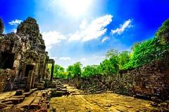 柬埔寨破庙 免版税库存照片