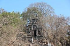 柬埔寨 聚会所玛哈Rosei寺庙 吴哥Borei市 茶胶寺省 库存图片
