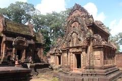 柬埔寨 Banteay Srey寺庙 暹粒省 暹粒市 库存图片