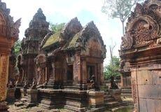 柬埔寨 Banteay Srey寺庙 暹粒省 暹粒市 免版税图库摄影