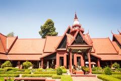 柬埔寨(Sala Rachana)金边, Cambo的国家博物馆 免版税图库摄影