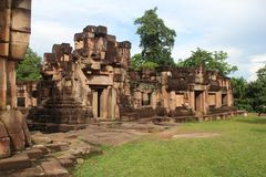柬埔寨 Ta呻吟声寺庙 Oudor Meanchey省 暹粒市 免版税图库摄影