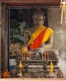 柬埔寨munks 免版税库存照片