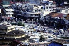 柬埔寨penh phnom地平线 免版税库存图片