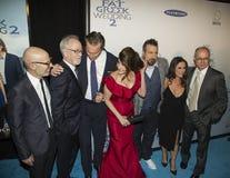 柯克琼斯,约翰Corbett、Nia Vardalos, Joey Fatone和Gia Carides 图库摄影