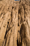 柱子土壤山与蓝天的 免版税图库摄影