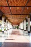 柱子在Wang Wiwekaram寺庙, Sangkla buri 库存图片