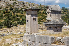 柱子坟茔 图库摄影