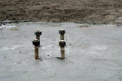柱子支持螺栓 库存照片