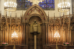 柱子的我们的夫人的法坛-我们的C的夫人大教堂  库存图片