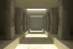 柱子长的走廊  皇族释放例证