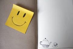 柱子 微笑 库存图片