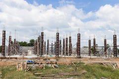 柱子建筑 免版税图库摄影