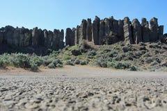 柱状玄武岩柱子 库存照片