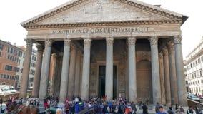 柱廊万神殿,罗马,意大利- 20 2月18, 影视素材