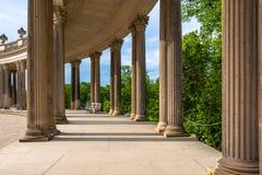 柱廊从18世纪在波茨坦,德国 免版税库存照片