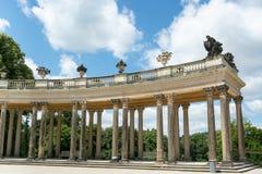 柱廊从18世纪在波茨坦 图库摄影