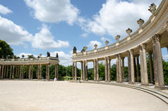 柱廊从18世纪在波茨坦 免版税库存图片